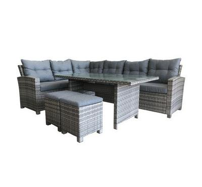 Homz 8 seaters Patio Set with dinning table with 10 cm Foam cushions