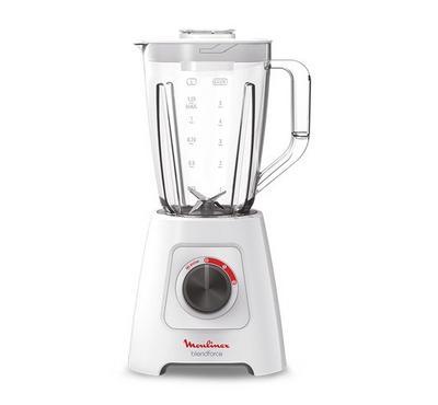 Moulinex Blendforce 2 Blender, Chopper,600W,1.25L, Speed 2+Pulse, White.