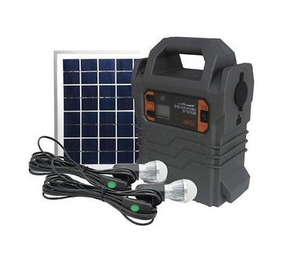 Geepas Rechargeable Home Solar System Black