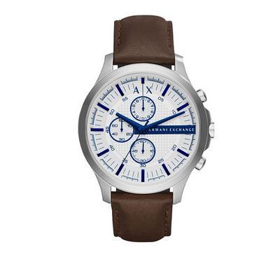 Armani Exchange Men Leather Brown Watch