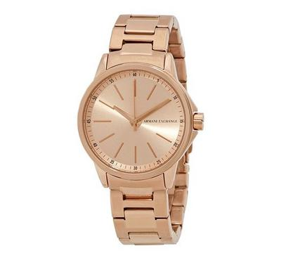Armani Exchange Ladies Stainless Steel Rosegold Watch