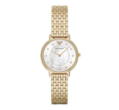 Emporio Armani Ladies Stainless Steel Gold Watch