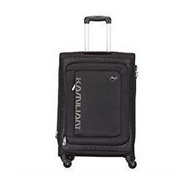Kamiliant 58 and 81 CM Soft Trolley Set Black