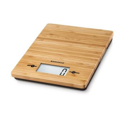Soehnle Digital Kitchen Scale, Bamboo Wood, 5Kg