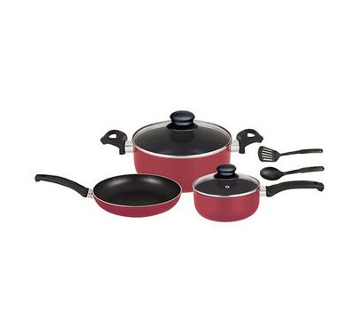 Optima 7pcs Cookware Sets Red