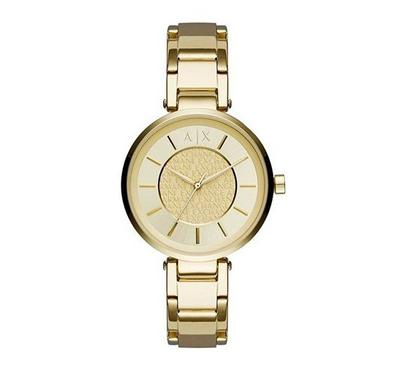 Armani Exchange Ladies Stainless Steel Gold Watch