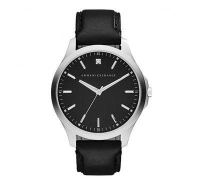 Armani Exchange Men Leather Black Watch