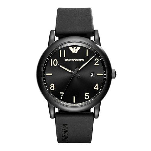 Emporio Armani Men Rubber Black Watch