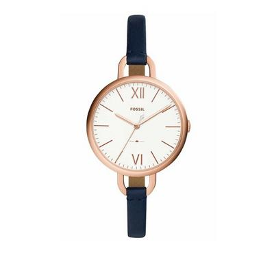 Fossil Ladies Leather Blue Watches