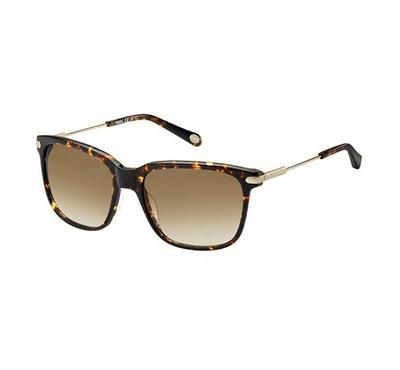Fossil Men Havana Sunglasses With Plastic Brown Sf Lens