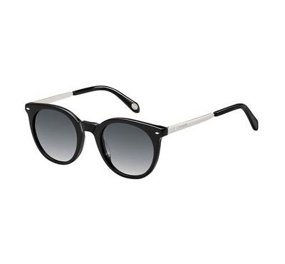 Fossil Unisex Black Pallad Sunglasses With Plastic Grey Sf Lens