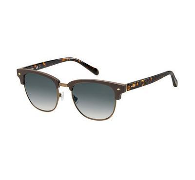 فوسيل نظارة شمسية رجالي، بني عدسات بلاستيك رمادي غامق