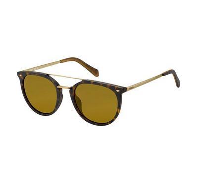 فوسيل نظارة شمسية للجنسين، بني، عدسات بلاستيك بني