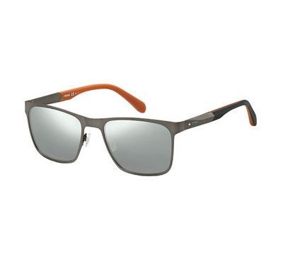 فوسيل نظارة شمسية رجالي، رمادي، عدسات بلاستيك رمادي