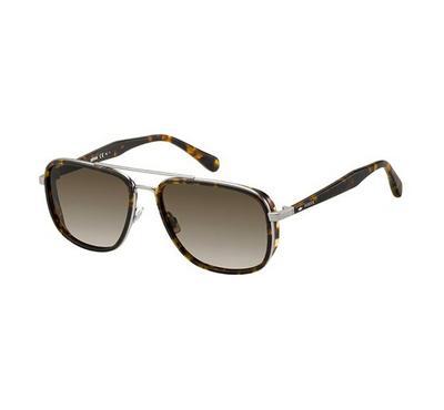 فوسيل نظارة شمسية رجالي، بني، عدسات بلاستيك بني