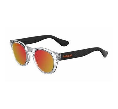 هافاياناس نظارة شمسية للجنسين، أسود، عدسات بلاستيك أحمر