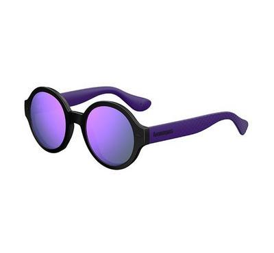 هافاياناس نظارة شمسية نسائية، أسود، عدسات بلاستيك بنفسجي