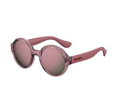 Havaianas Ladies Ople Burg Sunglasses With Plastic Pink Multilayer Lens