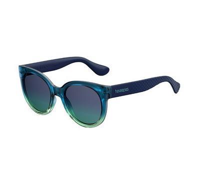 Havaianas Ladies Dkgrnblue Sunglasses With Plastic Blue Aqua Lens