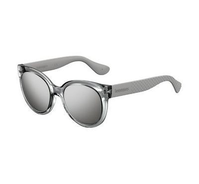 Havaianas Ladies Silver Sunglasses With Plastic Black Fl Lens