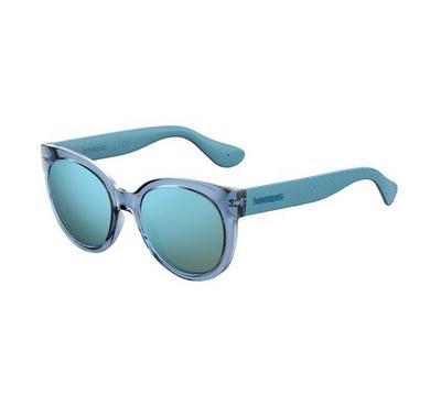 هافاياناس نظارة شمسية نسائية، أزرق، عدسات بلاستيك أزرق
