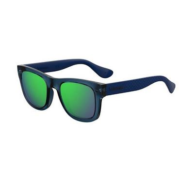 Havaianas Unisex Blue Sunglasses With Plastic Green Multilaye Lens