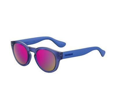 هافاياناس نظارة شمسية للجنسين، أزرق، عدسات بلاستيك وردي