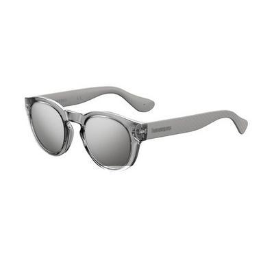 Havaianas Unisex Silver Sunglasses With Plastic Black Fl Lens