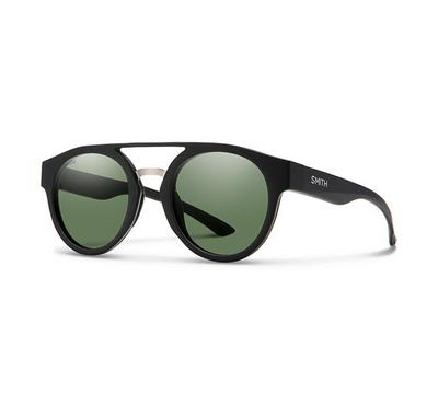 Smith Ladies Matt Black Sunglasses With Plastic Green Pz Cp Lens