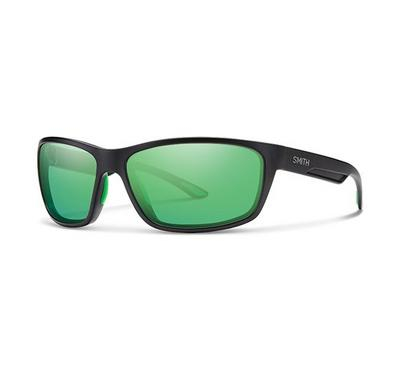 Smith Unisex Matt Black Sunglasses With Plastic Green Multilaye Lens