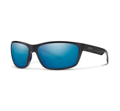 Smith Unisex Matt Black Sunglasses With Plastic Ml. Blu Lens