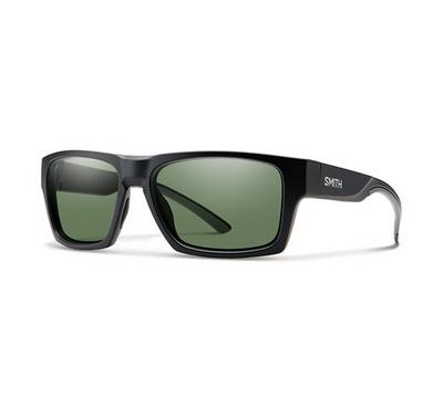 Smith Men Matt Black Sunglasses With Plastic Green Pz Cp Lens