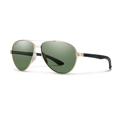 سميث نظارة شمسية رجالي، ذهبي، عدسات بلاستيك رمادي