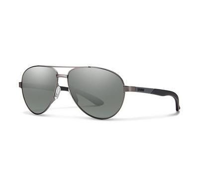 سميث نظارة شمسية رجالي، رمادي، عدسات بلاستيك رمادي