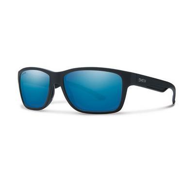 سميث نظارة شمسية للجنسين، أسود، عدسات بلاستيك أزرق