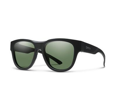 Smith Unisex Matt Black Sunglasses With Plastic Green Pz Cp Lens
