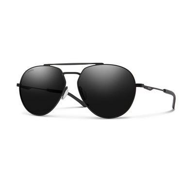 Smith Men Matt Black Sunglasses With Plastic Grey Cp Lens