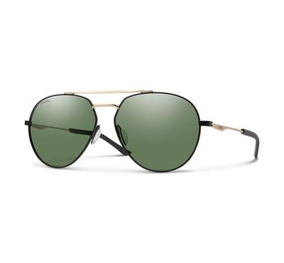 Smith Men Mttblck Gold Sunglasses With Plastic Green Pz Cp Lens