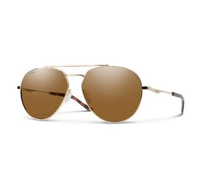 Smith Men Gold Sunglasses With Plastic Brown Pz Cp Lens