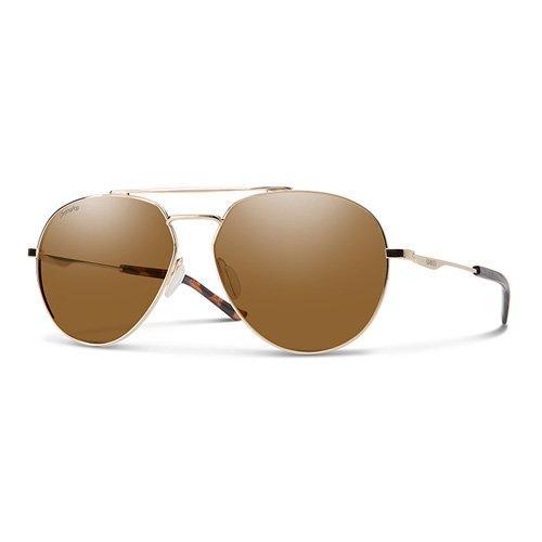 739452907 سميث نظارة شمسية رجالي، ذهبي، عدسات بلاستيك بني
