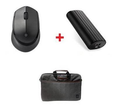 Xcell Laptop Bag plus Wireless Mouse and Power Bank 5200mAh