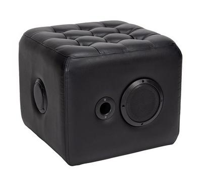 Cubic Ottoman Black, With Sound Speakers