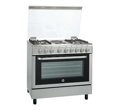 Hoover Cooker, 90x60cm, 4 Gas Burner, 2 Hot Plates, Stainless steel
