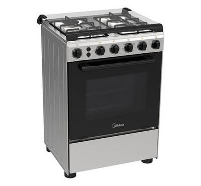 Midea Gas Cooking Range, 60x60cm, Full Safety, Stainless Steel