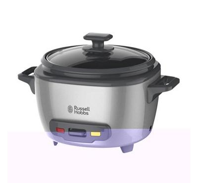 Russell Hobbs 2.0L Rice Cooker With Glass Lid 500W Stainless