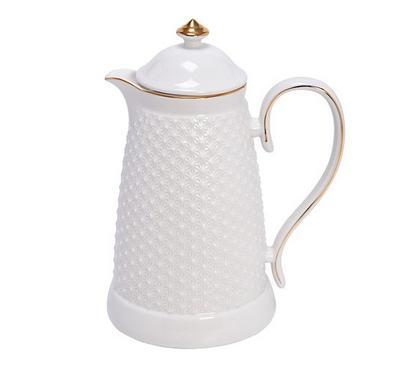 Dallety Porcelain Vacuum Flask L:30Cm White Color