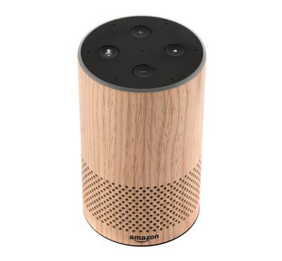 Amazon Echo Smart Speaker 2nd Generation, Oak Finish