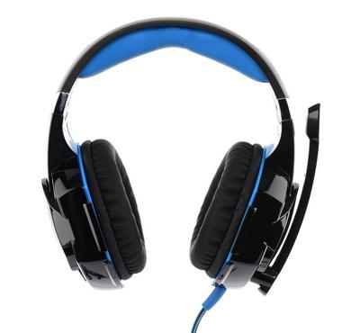 Pro gaming headset surrounding with mic for PS4, black and blue