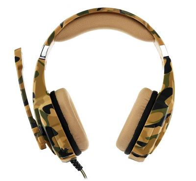 Pro gaming headset surrounding with mic for PS4, green army