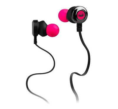 Monster, Mobile Earphone With Mic Neon Pink